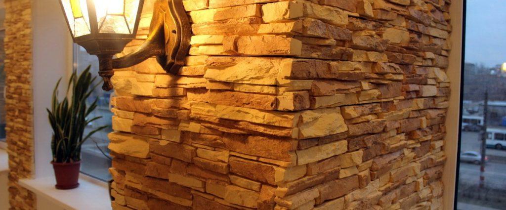 Oblitsovka sten dekorativnyim kamnem